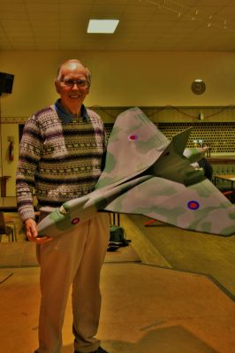Dave Berry with his Vulcan 3rd